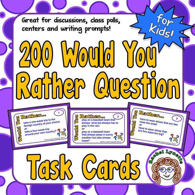 """How do you generate discussion in your classroom? The same old techniques? I suggest switching things up with """"would you rather"""" questions! These provide excellent opportunities for creative and critical thinking, and they encourage lively discussion and sometimes even debate. This post explores """"would you rather"""" questions, how you can use them, and why you should consider using them. Click through to read more!"""
