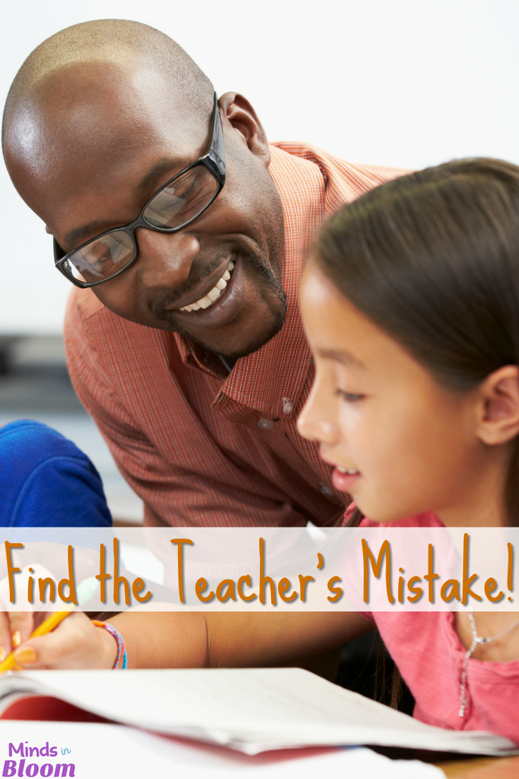 Kids love realizing their teachers are human and pointing out teachers' mistakes. So, utilize that interest and have students find the teacher's mistake on assignments! I share ideas on how you can do this and how you can reward students for finding the mistakes in this post.