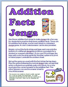 Free Jenga Multiplication and Addition Games