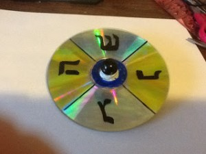 Make a Dreidel out of a CD!