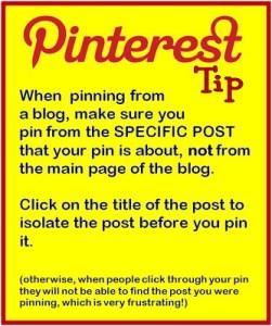 Pinterest Tip #1