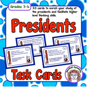 FREE Presidents' Day Task Cards!