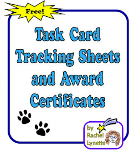 FREE Task Card Tracking Sheets and Award Certificates!