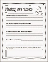 Ideas for Teaching Theme (and a couple freebies!) - Minds ...