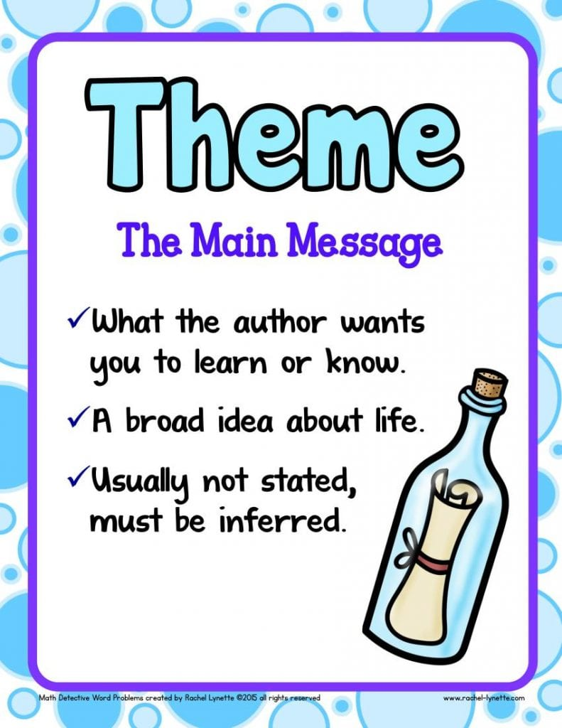 hight resolution of Ideas for Teaching Theme to your 3rd