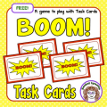 Add this BOOM! game to your task card routine, and your students will love it! It's a fun way to mix up centers, review, and general instruction.