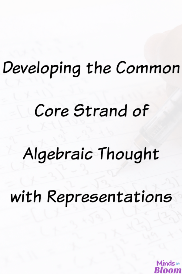 Developing the Common Core Strand of Algebraic Thought