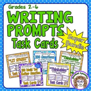 Grades 2-6 Writing Prompts Task Cards Super Bundle