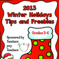 Rachel Lynette worked with other sellers on Teachers Pay Teachers to create this collection of free resources for the winter holidays. It's available in her TPT store!