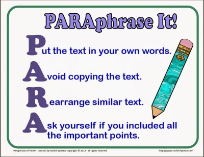 summarizing and paraphrasing a source activity part 2 Quoting, paraphrasing, and summarizing 1 quoting, paraphrasing, and summarizingby claudia cárdenas 2 must be identical to the original, using a narrow segment of the source they must match the source document word for word and must be attributed.