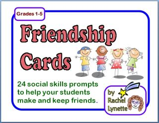 Friendship Cards for Grades 1-5