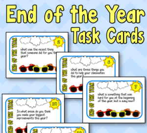 End of the Year Task Cards – FREE!