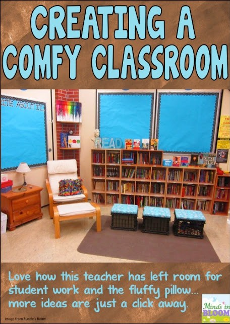 Make your classroom feel like your students are welcome there by creating a comfy classroom. I share several ideas for making your classroom comfy and inviting in various aspects.