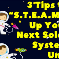 Read this post to learn three ways you can add more elements of S.T.E.A.M. to your solar system unit!