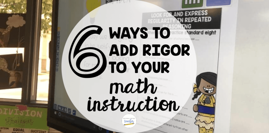 With the Common Core State Standards, rigor is expected in math. However, adding rigor is often easier said than done. Our guest blogger shares six ways to add rigor to your math instruction, and they're all easy to implement! Click through to read all of her suggestions.