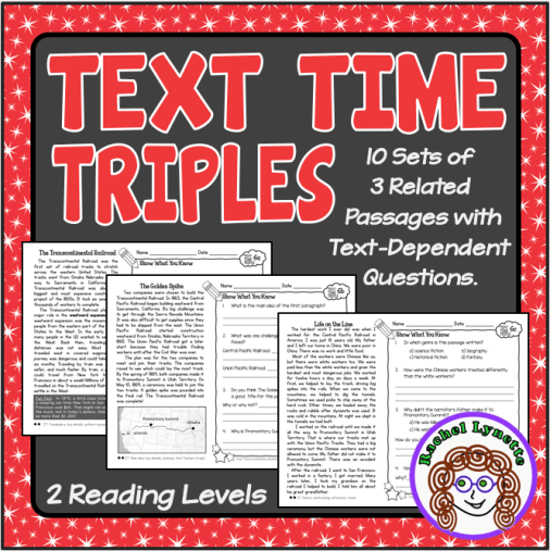 Text Time Triples for comparing and contrasting close reading passages