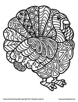 Turkeys to Color! Great for Thanksgiving or Anytime in