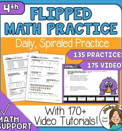 4th Grade Math Daily Spiral Review Great for Distance Learning 170+ Videos  - Minds in Bloom [ 2560 x 2560 Pixel ]