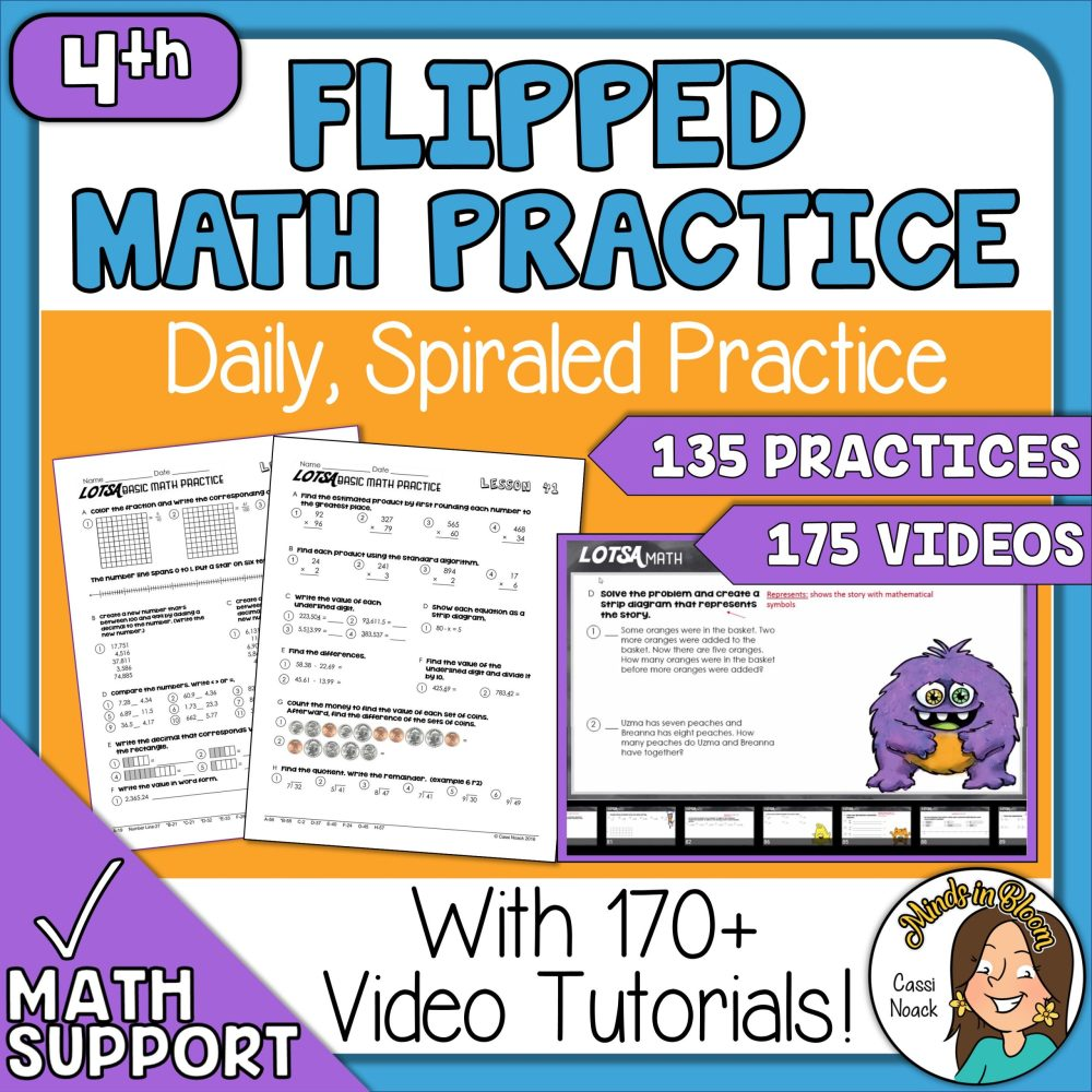 medium resolution of 4th Grade Math Daily Spiral Review Great for Distance Learning 170+ Videos  - Minds in Bloom