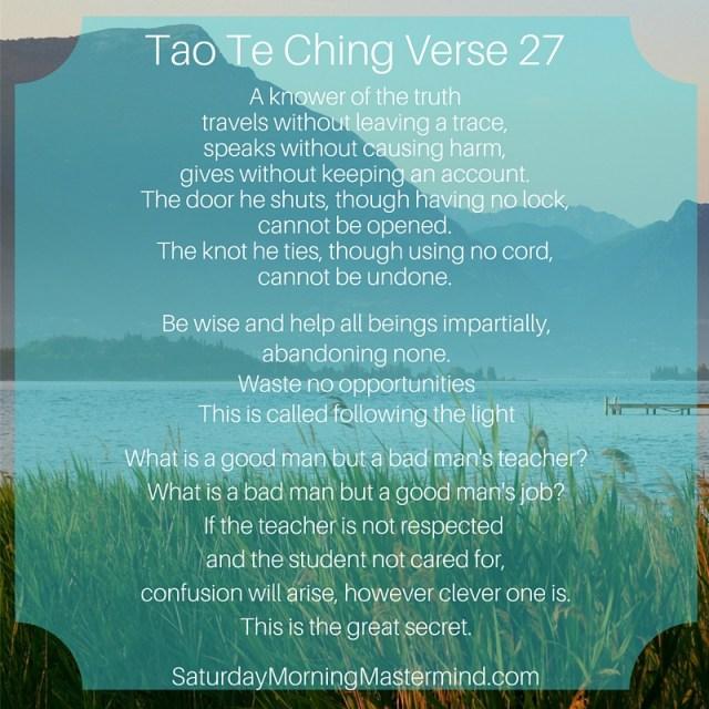tao te ching verse 27