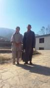 At Shaolin with her teacher Shifu Shian Zhen Yun