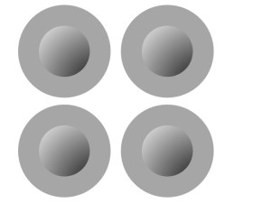 Figure1: Shaded dots typically seen as convex.Based on Ramachandran 1988.