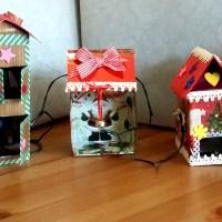 Πώς να φτιάξετε χριστουγεννιάτικα σπιτάκια από ανακυκλώσιμα κουτιά.