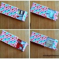 Μίνι kit ραπτικής με κουτάκια από φιλτράκια καπνίσματος.