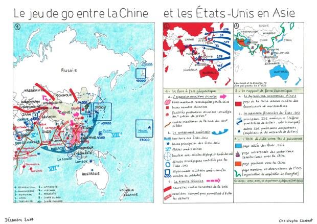 Jeu de go Chine Etas-Unis en Asie