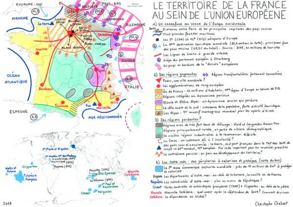 Le territoire de la France au sein de l'Union européenne