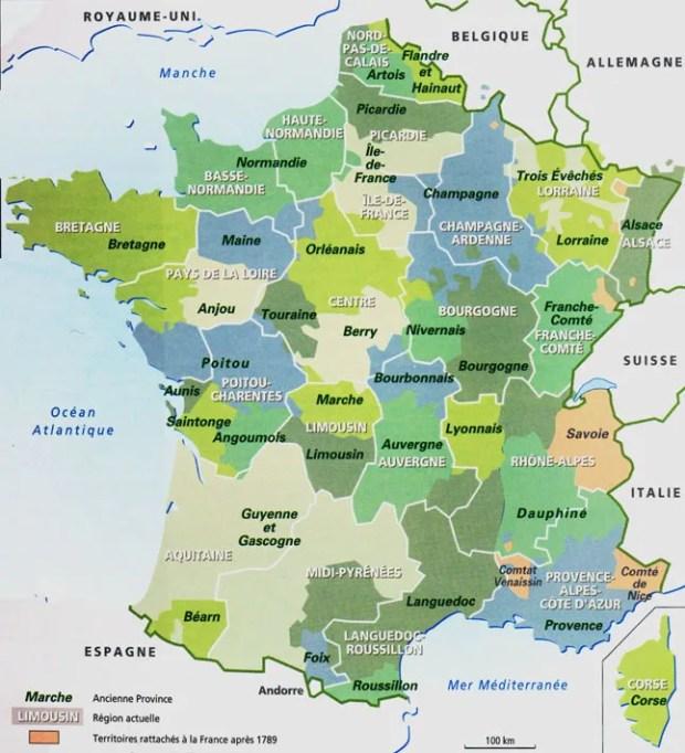 provinces de l'ancien régime