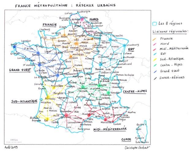 Réseaux urbains français