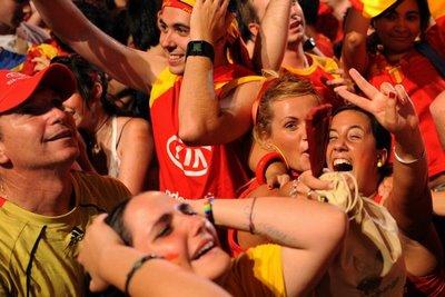 Испанские футбольные болельщики