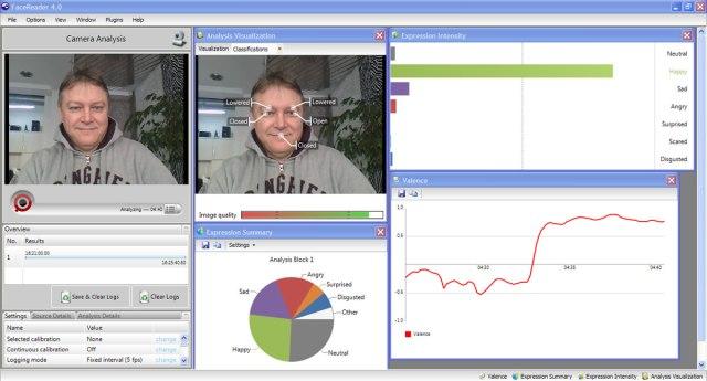 Распознавание эмоций программой FaceReader от Noldus