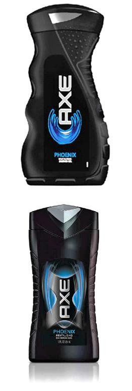 Дизайн бутылка гель-душа Axe компании Unilever