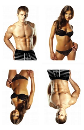 Пример представления фотографий мужчин и женщин