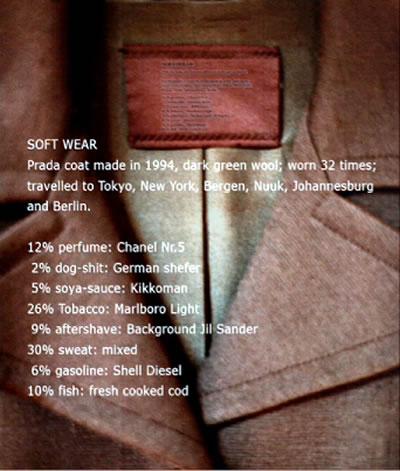 анализ запахов, собранных с пальто