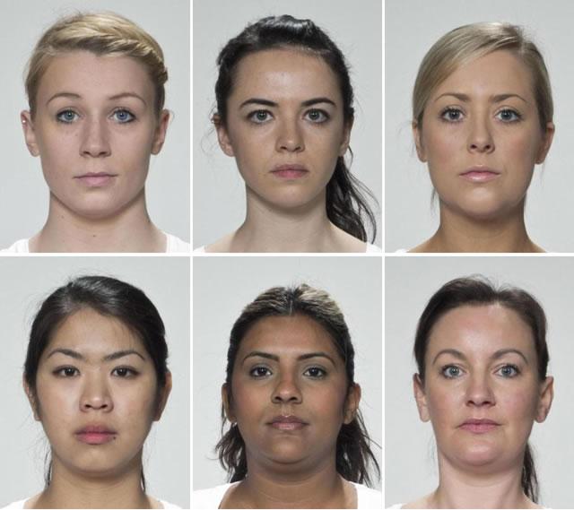 шесть женских лиц