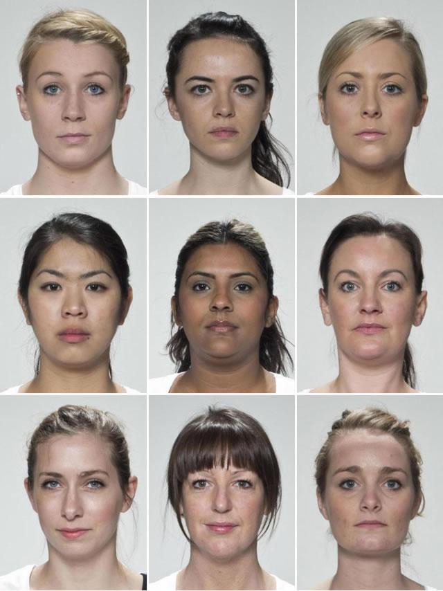 девять женских лиц