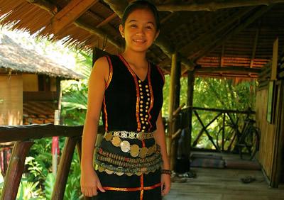 Девушка народности Кадазан