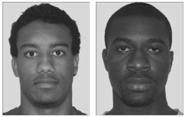 два лица, одно - стереотипично для черной расы