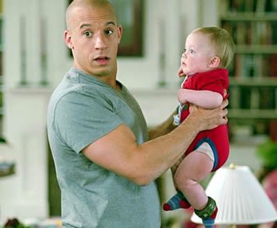 Вин Дизель с ребенком