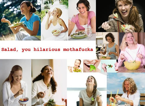 очень смешной салат