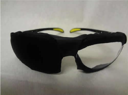очки с закрытой половиной