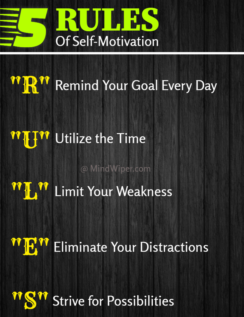 5 rules of self-motivation
