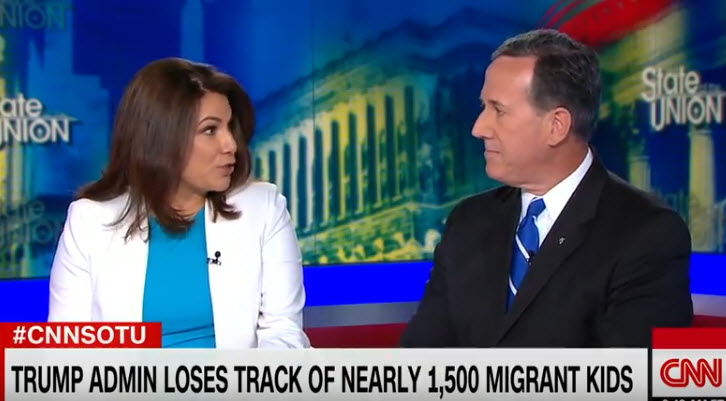 All Hell Breaks Loose When Rick Santorum Tries To Dismiss The 1,500 Missing Migrant Children -VIDEO -