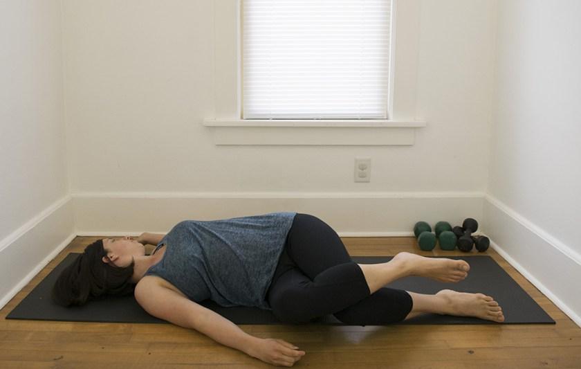 Twisting spine stretch