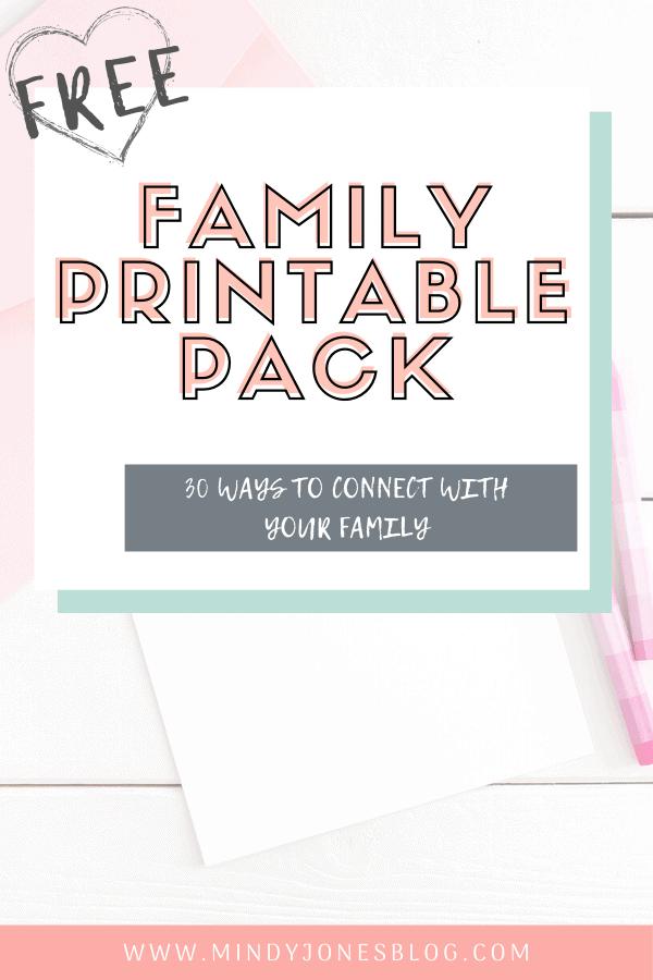 family printable pack desk letter