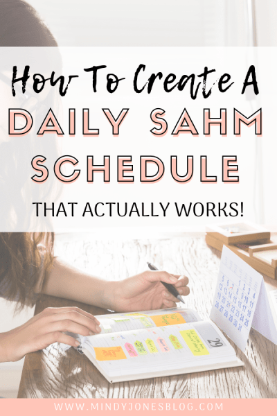 Create A SAHM Schedule That Works