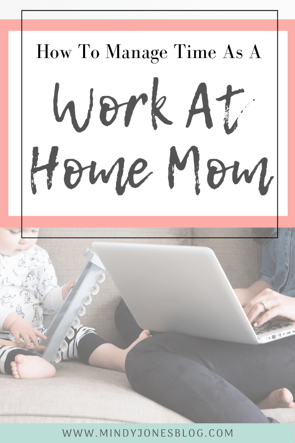 managae time as a work at home mom computer with baby
